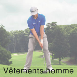 homme jouant au golf sur le green